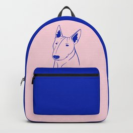 Bull Terrier (Pink and Blue) Backpack