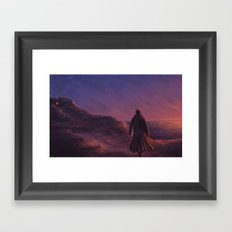 The Pirate and the Witch Framed Art Print
