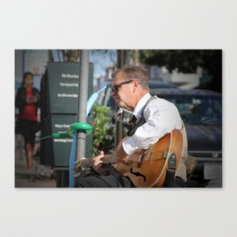 North Beach Sidewalk Tunes Canvas Print