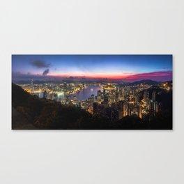 Hong Kong Sunrise Canvas Print