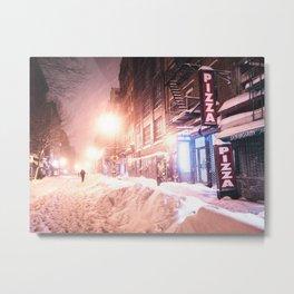 New York City Blizzard Metal Print