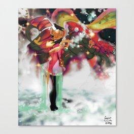 Machine and Me [Digital Figure Illustration] Canvas Print