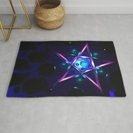 Purple pentagram Rug