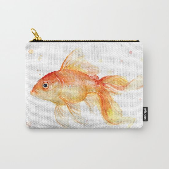 Goldfish Watercolor Fish Carry-All Pouch