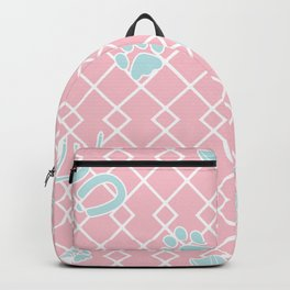Baby Animal Footprints on Diamonds Backpack