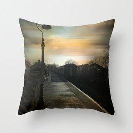 Bitton Railway Platform Throw Pillow