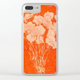 BOTANICAL STILL LIFE - ORANGE ABSTRACT Clear iPhone Case