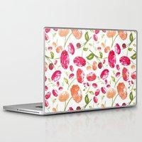 peonies Laptop & iPad Skins featuring Peonies by viktoria.rodek
