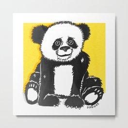 Happy Panda Metal Print