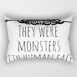 they were monsters - miss peregrine Rectangular Pillow
