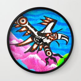 Eagle Totem Graffiti Wall Clock