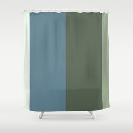 Parable to Behr Blueprint Color of the Year and Accent Colors Vertical Stripes 4 Shower Curtain