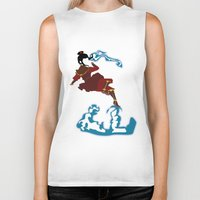 airbender Biker Tanks featuring Azula by JHTY