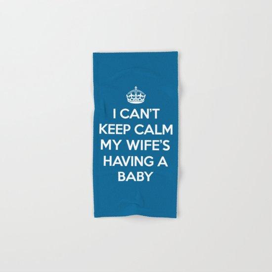Keep Calm Wife Baby Quote Hand & Bath Towel