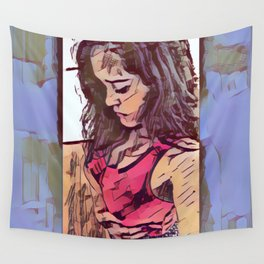 Sadness icone Wall Tapestry