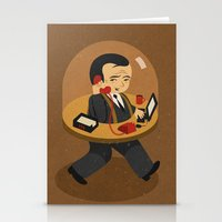 the office Stationery Cards featuring mobile office by John Holcroft