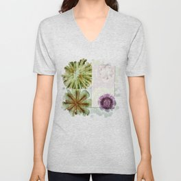 Essive Truth Flowers  ID:16165-132545-22351 Unisex V-Neck