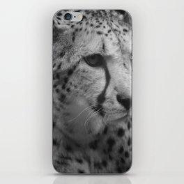 Cheetah Black & White iPhone Skin