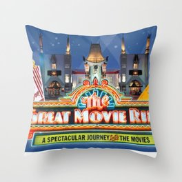 The Great Movie Ride Throw Pillow