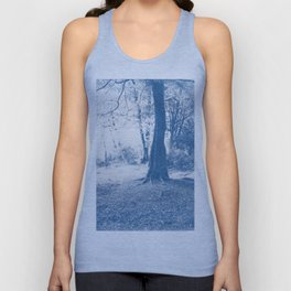 Cyanotype Tree 5x4 negative Unisex Tank Top