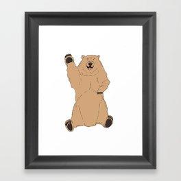 Waving Bear Framed Art Print