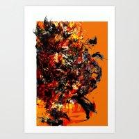metal gear Art Prints featuring metal gear by ururuty