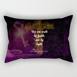 2 Corinthians 5:7 Bible Verse Quote About Faith Rectangular Pillow