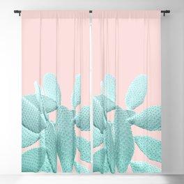 Blush Cacti Vibes #1 #plant #decor #art #society6 Blackout Curtain