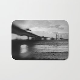 severn Crossing Lensbaby 02 - Severn Beach Bath Mat