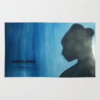 airplanes Area & Throw Rugs featuring Airplanes by Jinventure
