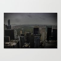central park Canvas Prints featuring Central Park by mnewmanphotos