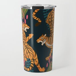Jungle Cats - Roaring Tigers Travel Mug