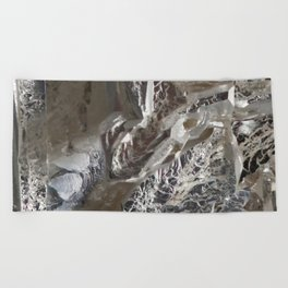 Silver Crystal First Beach Towel