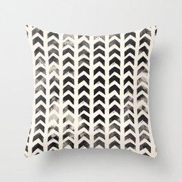 Black Hand-Drawn Arrows Throw Pillow