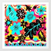 Funky colors Art Print