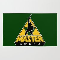 skeletor Area & Throw Rugs featuring Link and the Master Sword by dutyfreak