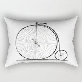 Penny-farthing. Rectangular Pillow