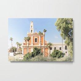 Jaffa's Church , Tel Aviv, Israel Metal Print