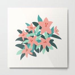 Tiger Lily Flowers Metal Print