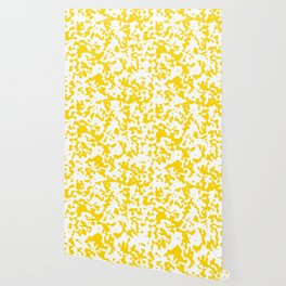 Spots - White and Gold Yellow Wallpaper