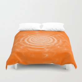 Ripples_Orange Duvet Cover
