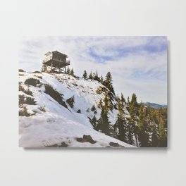 Abandoned Lookout Metal Print