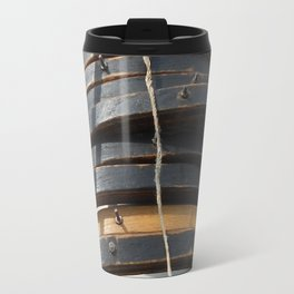 Mast hoops on Sailing Schooner Travel Mug