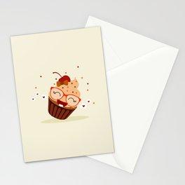 Cupcake caramel Stationery Cards
