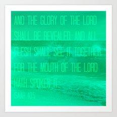 Isaiah 40:5 Art Print