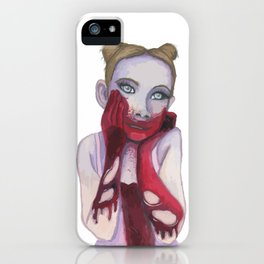Cute Zombie Girl iPhone Case