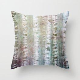Birchwood abstract Throw Pillow