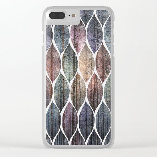Metallic Leaf Pattern 2 Clear iPhone Case