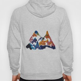 WATERCOLOR MOUNTAINS Hoody