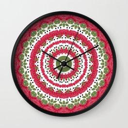 Rosy dreams. Kaleidoscope. Wall Clock